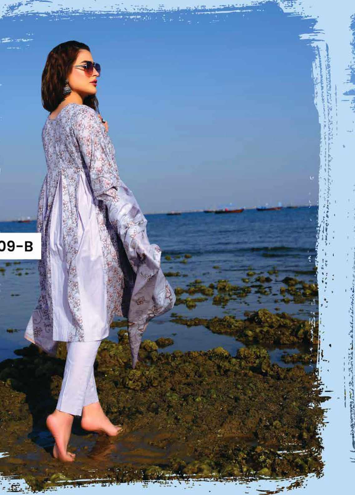 Five Star Printed Lawn Unstitched 3 Piece Suit FS20C 1009B - Spring / Summer Collection