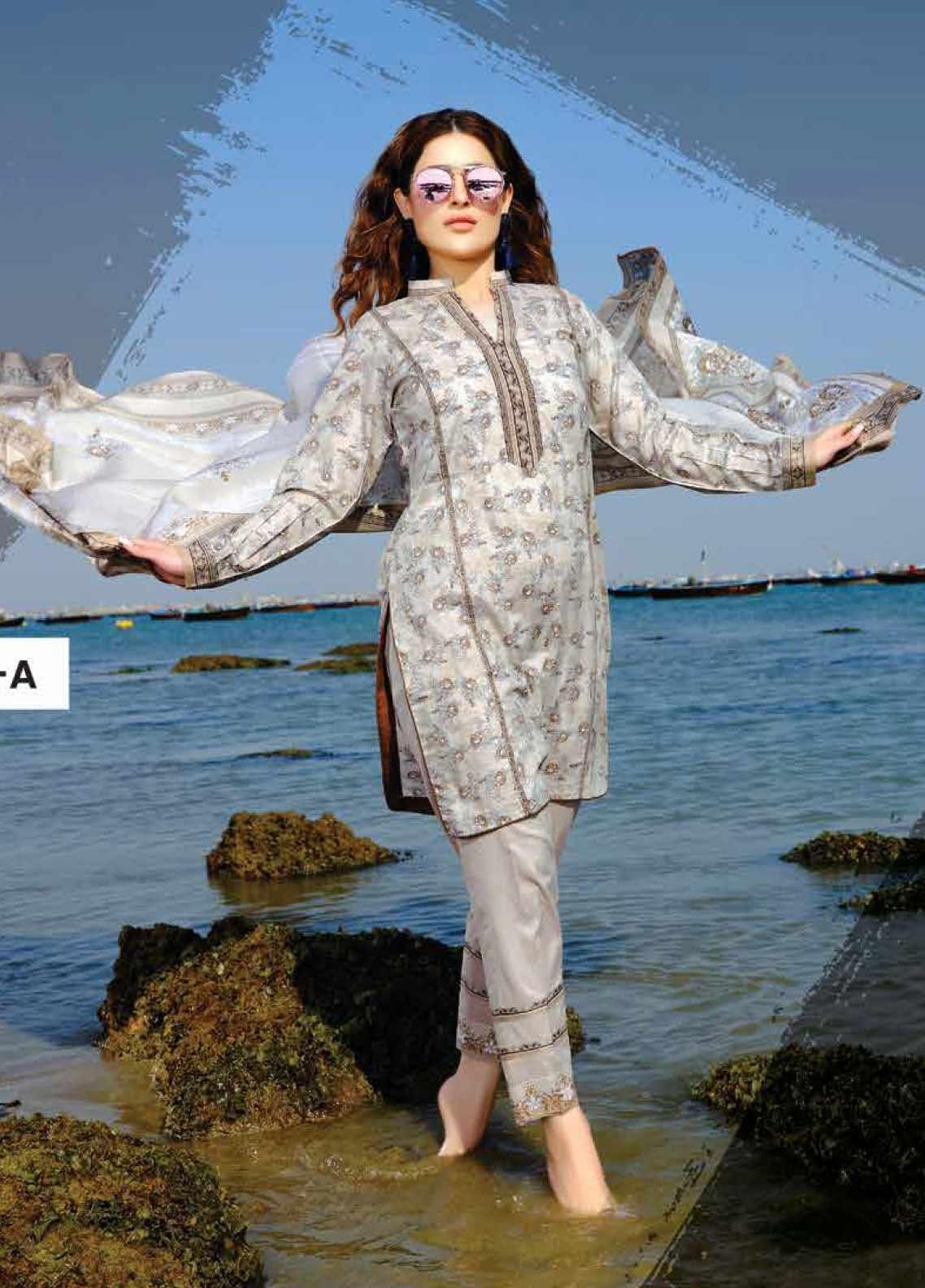 Five Star Printed Lawn Unstitched 3 Piece Suit FS20C 1012A - Spring / Summer Collection