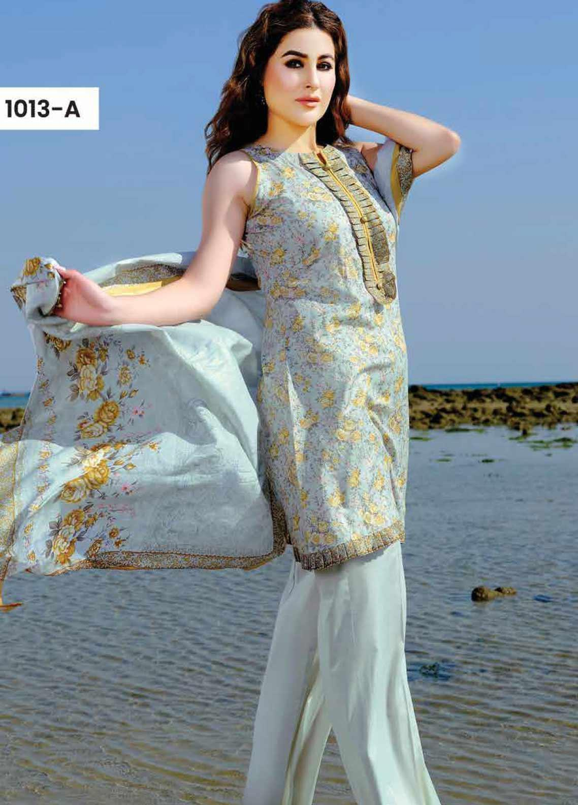 Five Star Printed Lawn Unstitched 3 Piece Suit FS20C 1013A - Spring / Summer Collection