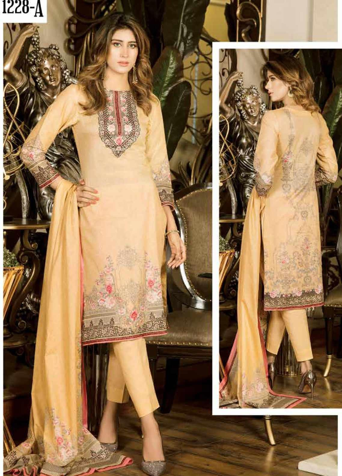 Five Star Printed Lawn Unstitched 3 Piece Suit FS20CL 1228A - Spring / Summer Collection