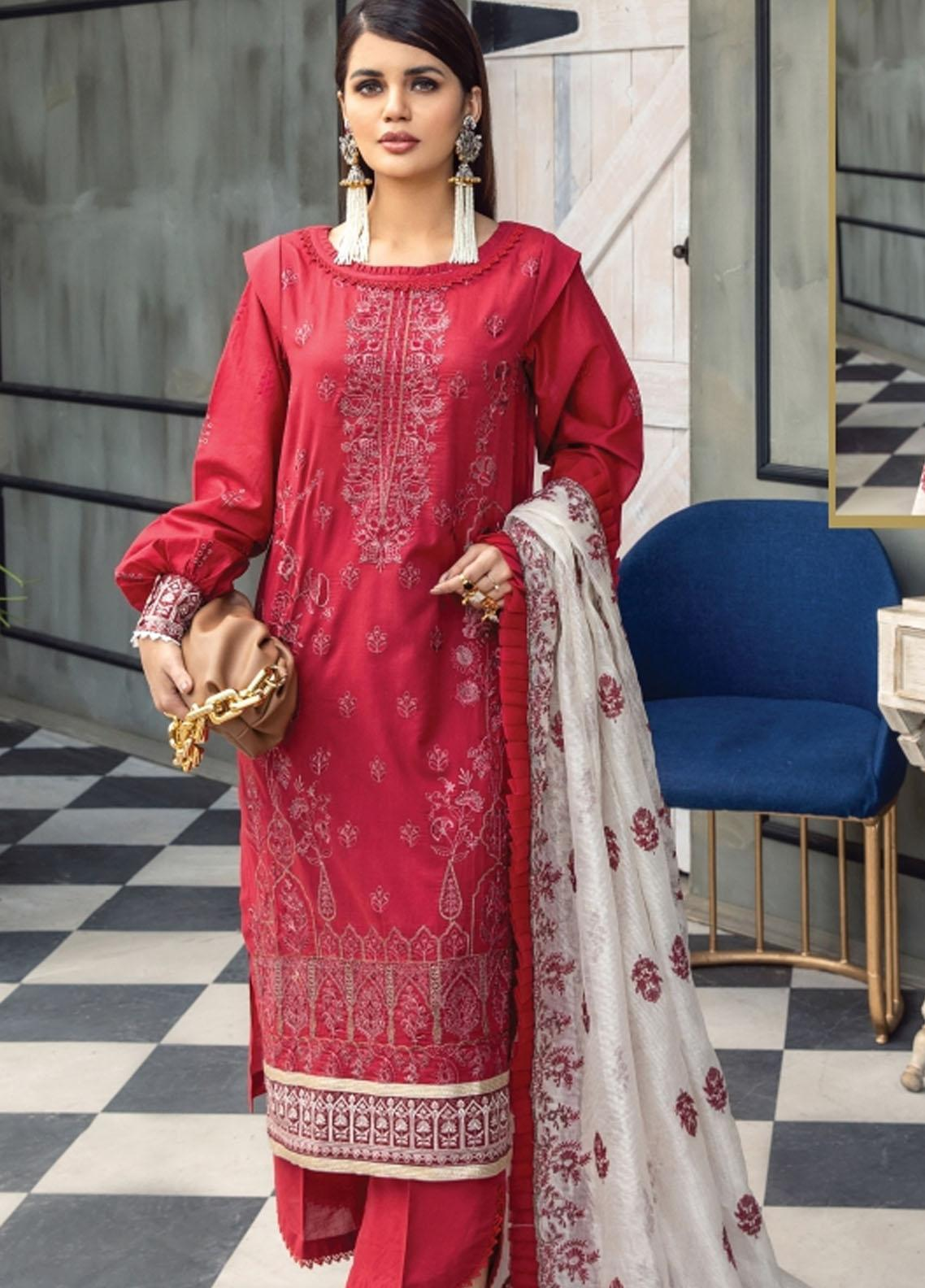 Florent Embroidered Lawn Suits Unstitched 3 Piece FL21LL D-03A - Summer Collection