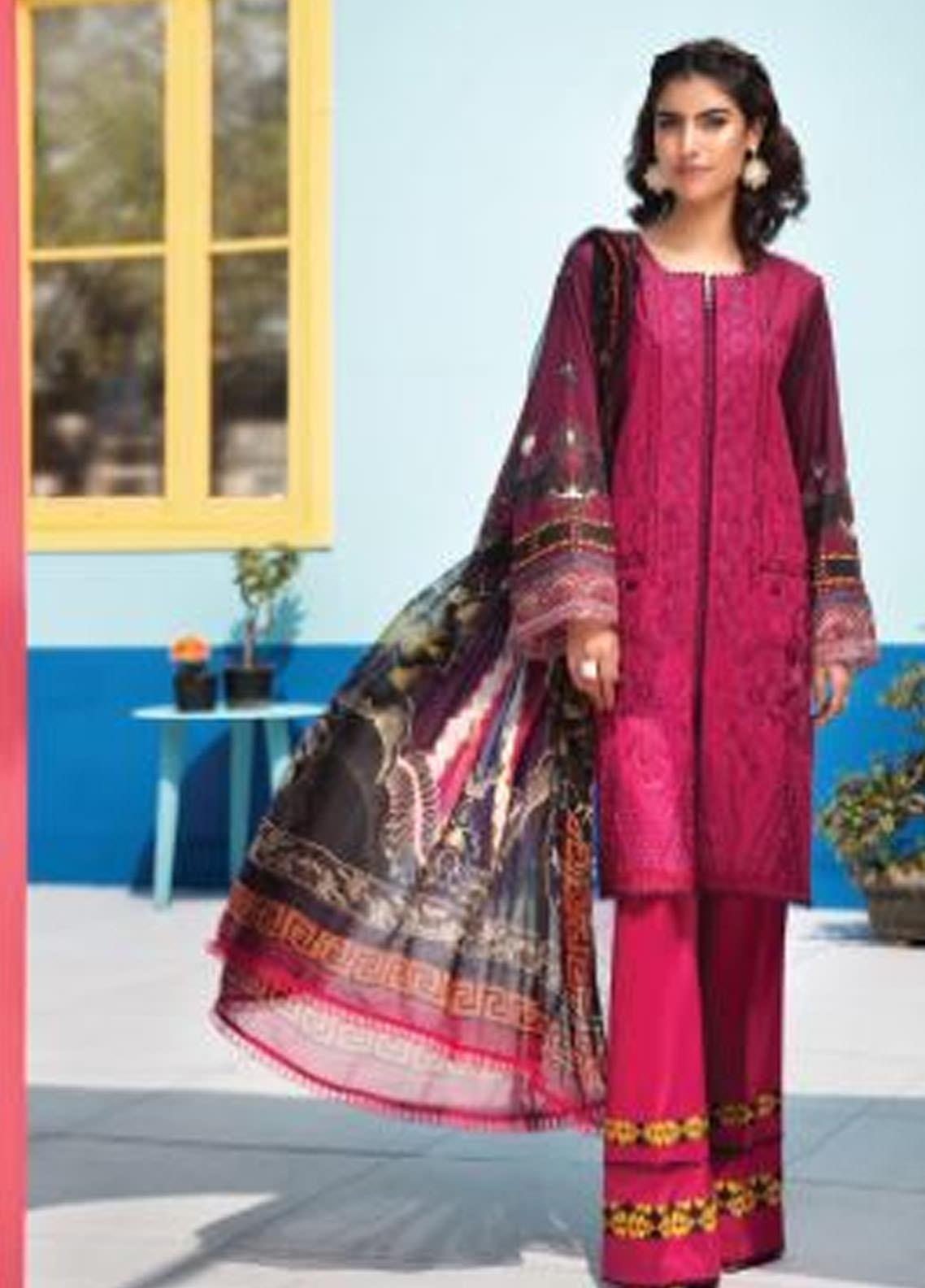 Florent Embroidered Lawn Unstitched 3 Piece Suit F20SV 12 - Summer Collection
