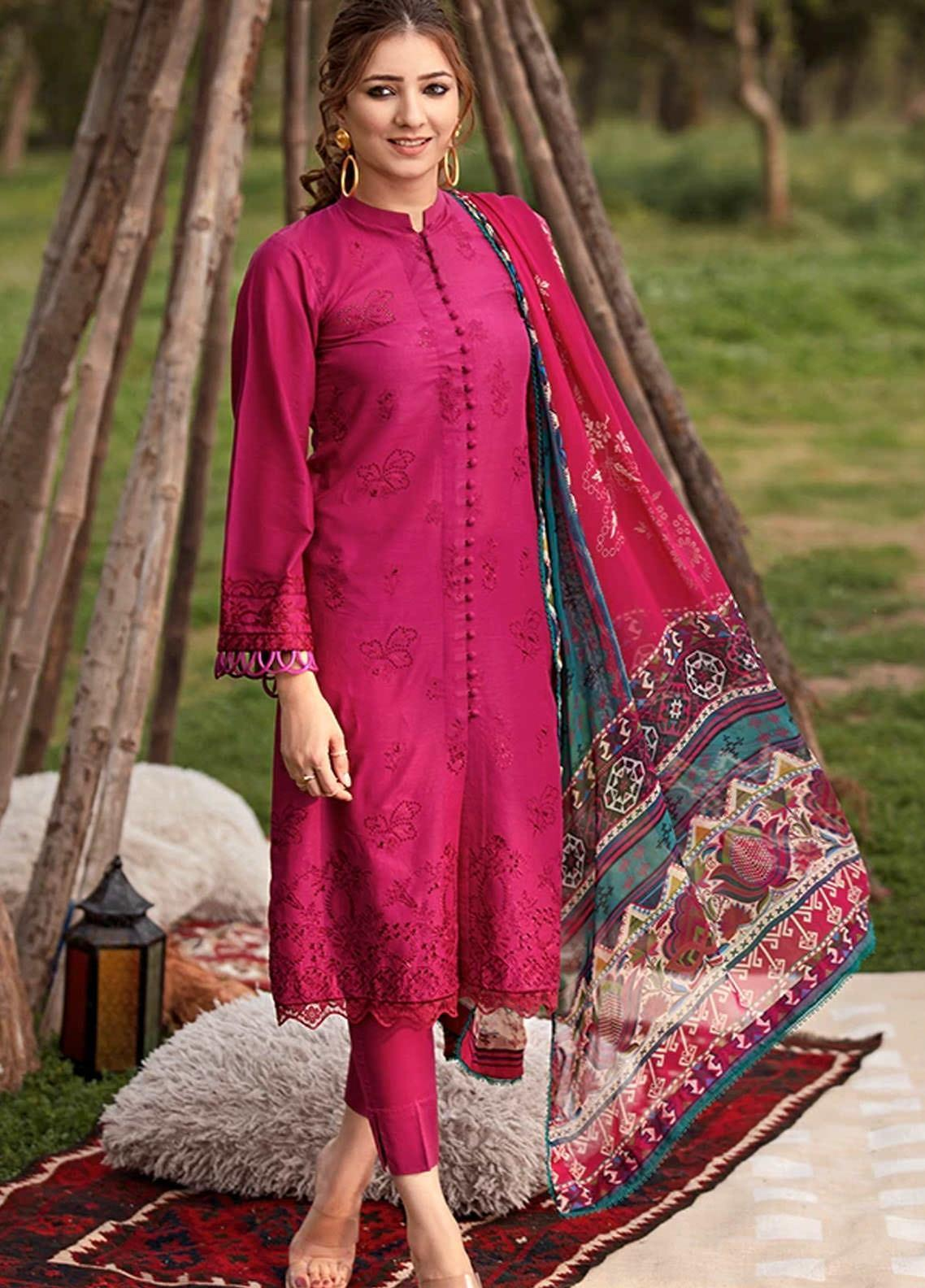 Florent Embroidered Schiffli Suits Unstitched 3 Piece F21SV FL-19 - Summer Collection