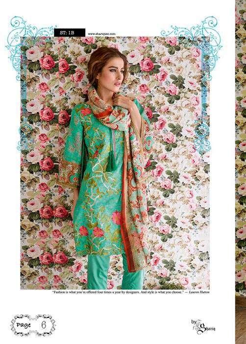 Feminine By Shariq Embroidered Lawn Unstitched 3 Piece Suit FM17E 1B