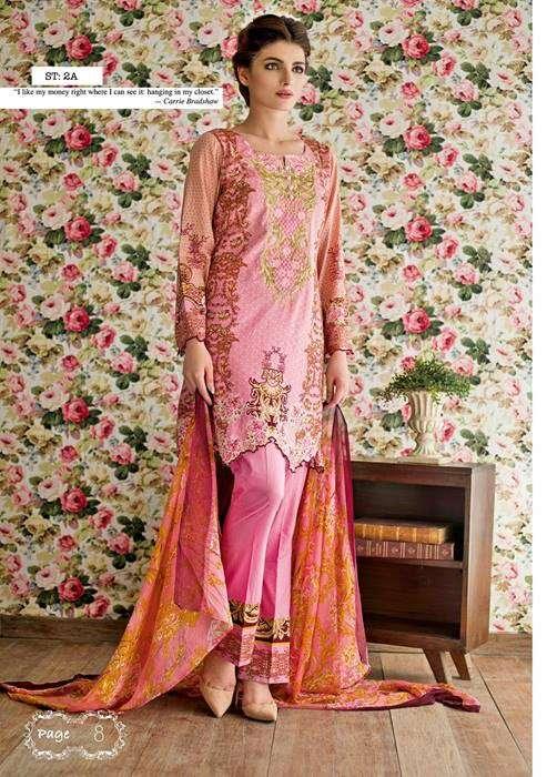 Feminine By Shariq Embroidered Lawn Unstitched 3 Piece Suit FM17E 2A