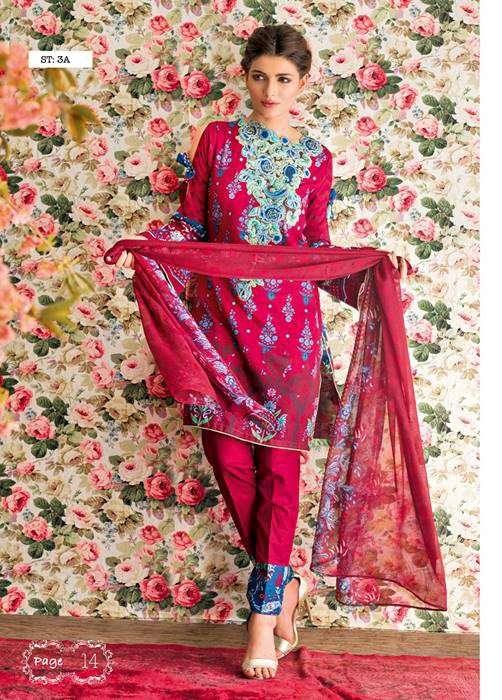 Feminine By Shariq Embroidered Lawn Unstitched 3 Piece Suit FM17E 3A