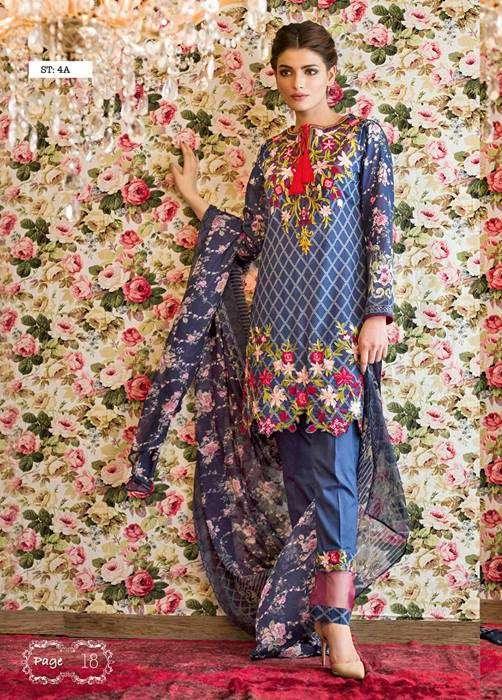Feminine By Shariq Embroidered Lawn Unstitched 3 Piece Suit FM17E 4A
