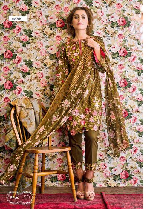 Feminine By Shariq Embroidered Lawn Unstitched 3 Piece Suit FM17E 4B
