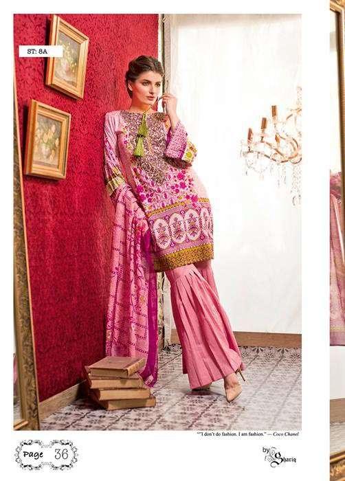 Feminine By Shariq Embroidered Lawn Unstitched 3 Piece Suit FM17E 8A
