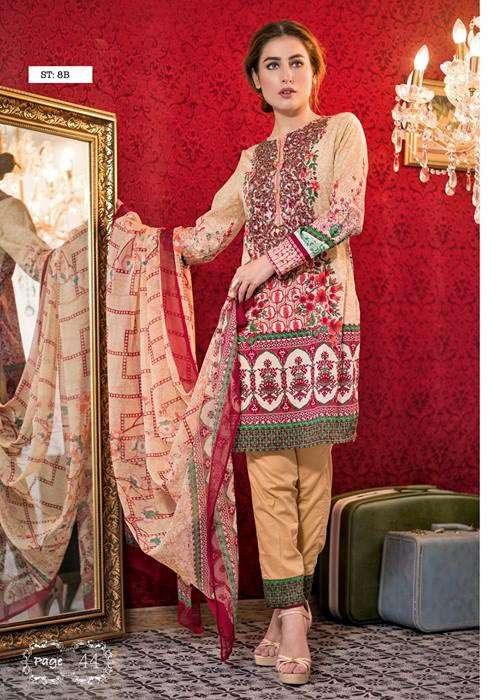 Feminine By Shariq Embroidered Lawn Unstitched 3 Piece Suit FM17E 8B