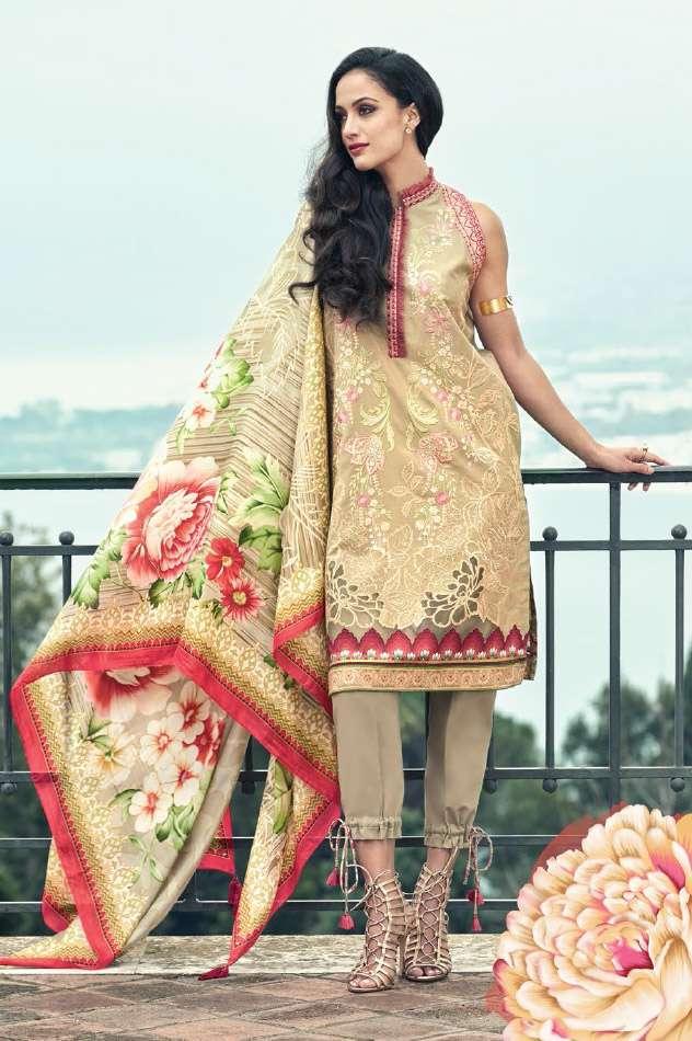 Faraz Manan Embroidered Lawn Unstitched 3 Piece Suit FM17L 02