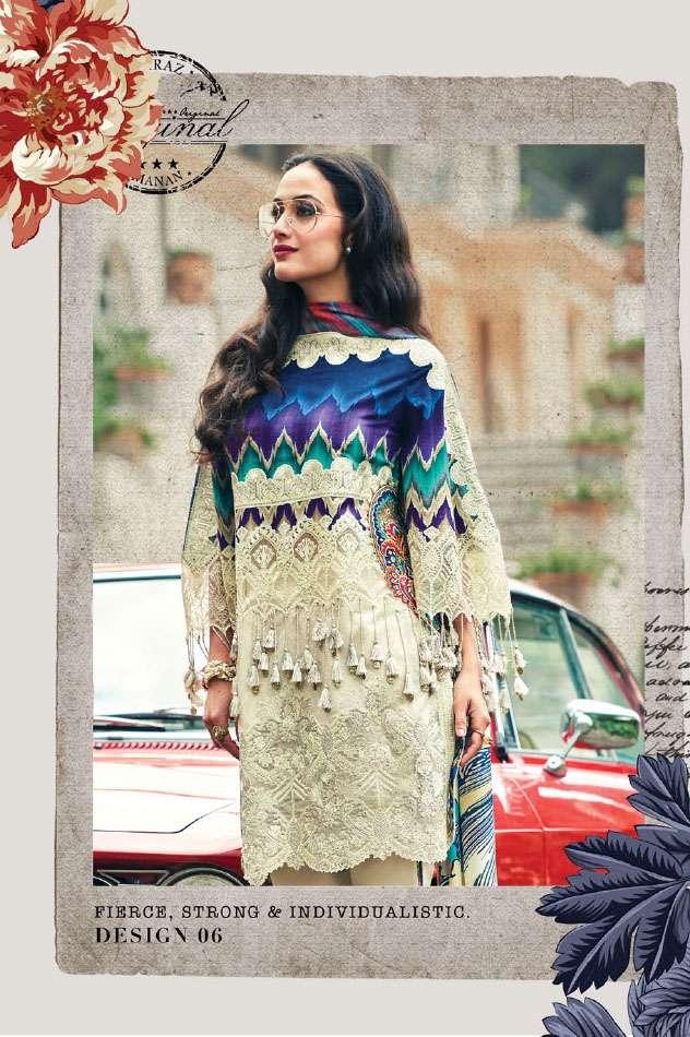 Faraz Manan Embroidered Lawn Unstitched 3 Piece Suit FM17L 06