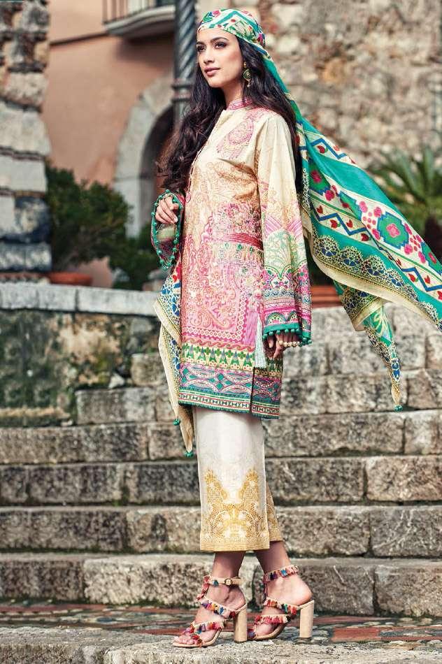 Faraz Manan Embroidered Lawn Unstitched 3 Piece Suit FM17L 07