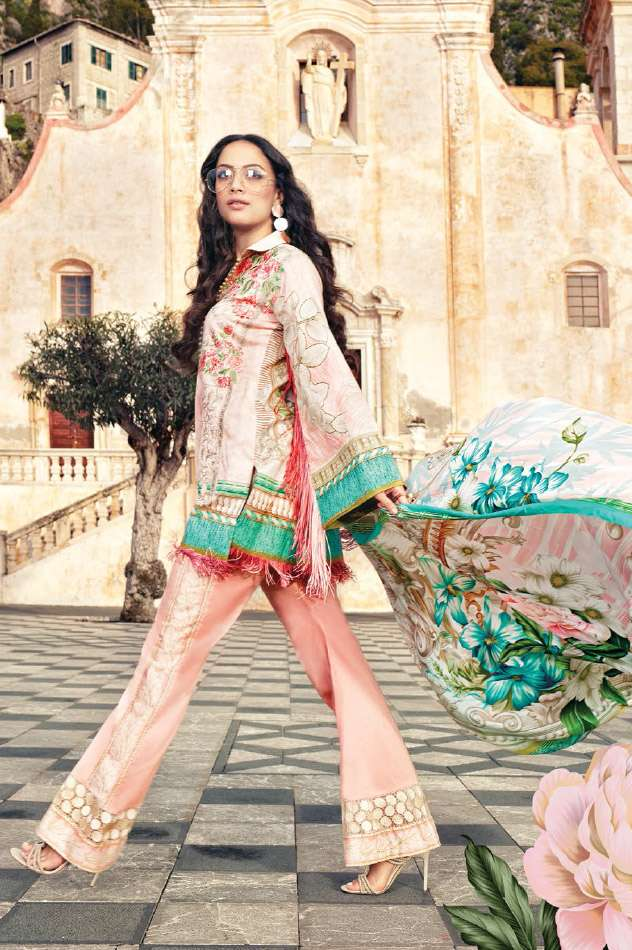 Faraz Manan Embroidered Lawn Unstitched 3 Piece Suit FM17L 08