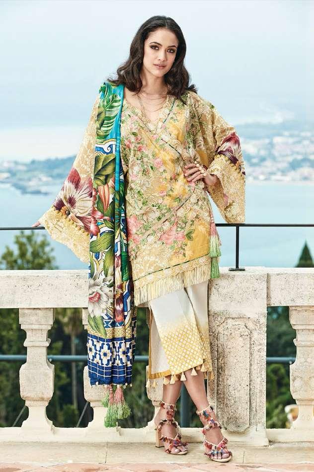 Faraz Manan Embroidered Lawn Unstitched 3 Piece Suit FM17L 09