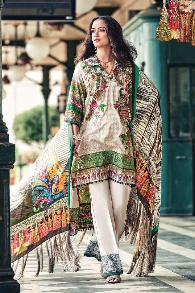 Faraz Manan Embroidered Lawn Unstitched 3 Piece Suit FM17L 14
