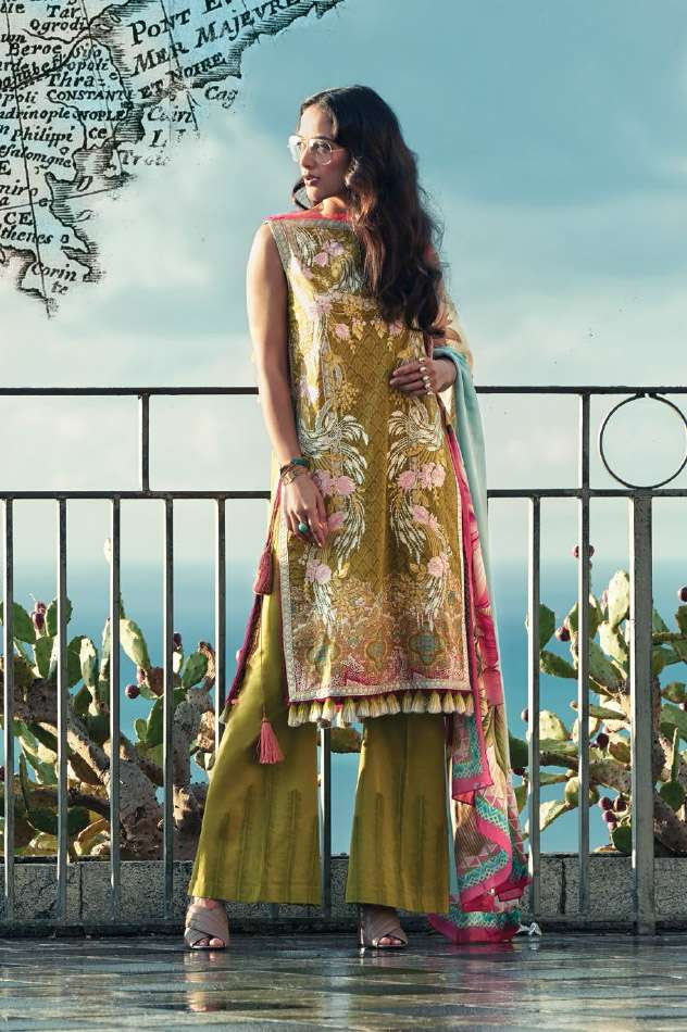 Faraz Manan Embroidered Lawn Unstitched 3 Piece Suit FM17L 15