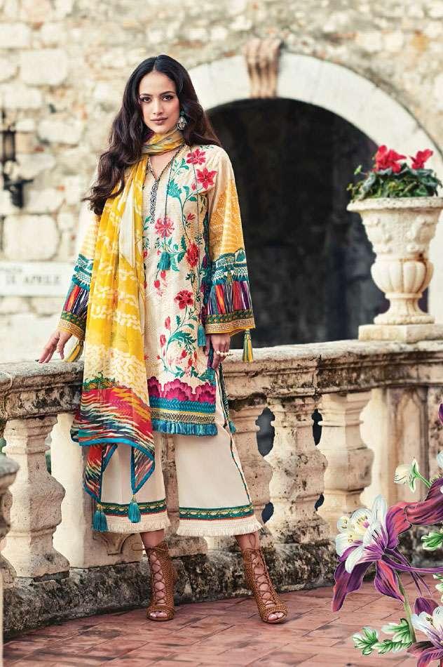 Faraz Manan Embroidered Lawn Unstitched 3 Piece Suit FM17L 18