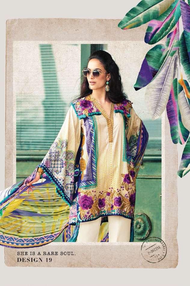 Faraz Manan Embroidered Lawn Unstitched 3 Piece Suit FM17L 19