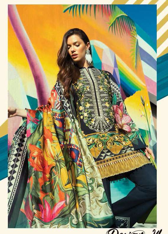 Faraz Manan Embroidered Lawn Unstitched 3 Piece Suit FM18L 24 - Spring / Summer Collection