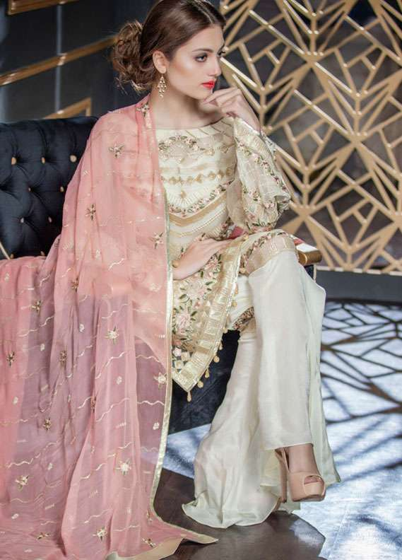 Maryum N Maria Embroidered Chiffon Unstitched 3 Piece Suit FMM18C2 01 - Formal Collection