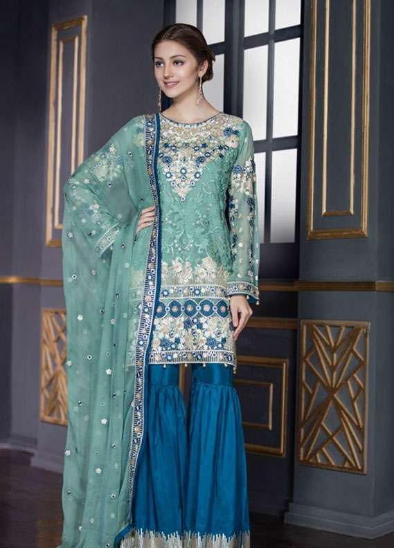 Maryum N Maria Embroidered Chiffon Unstitched 3 Piece Suit FMM18C2 03 - Formal Collection