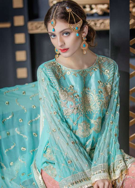 Maryum N Maria Embroidered Chiffon Unstitched 3 Piece Suit FMM18C2 09 - Formal Collection