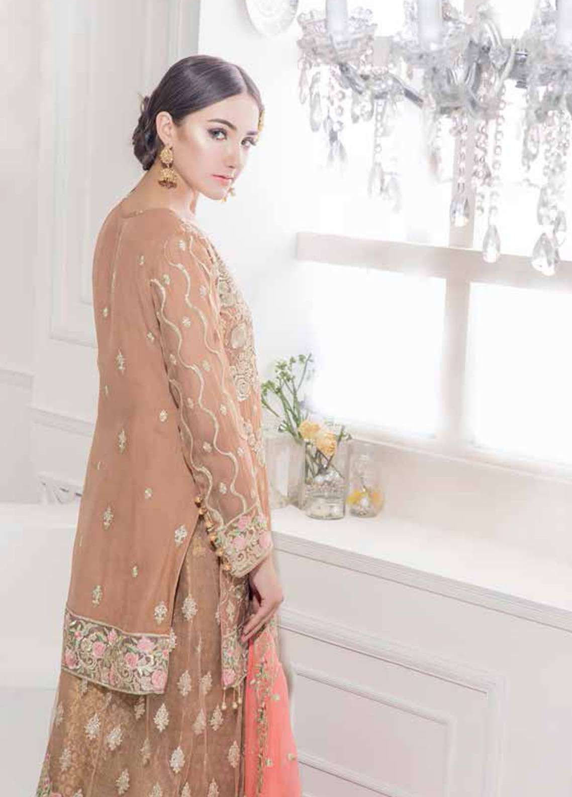 Maryum N Maria Embroidered  Stitched 3 Piece Suit FMM18R 310