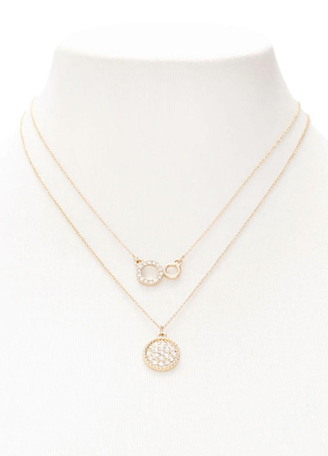 Forever21 RhinestonePendant Necklace Set  - Ladies Jewellery