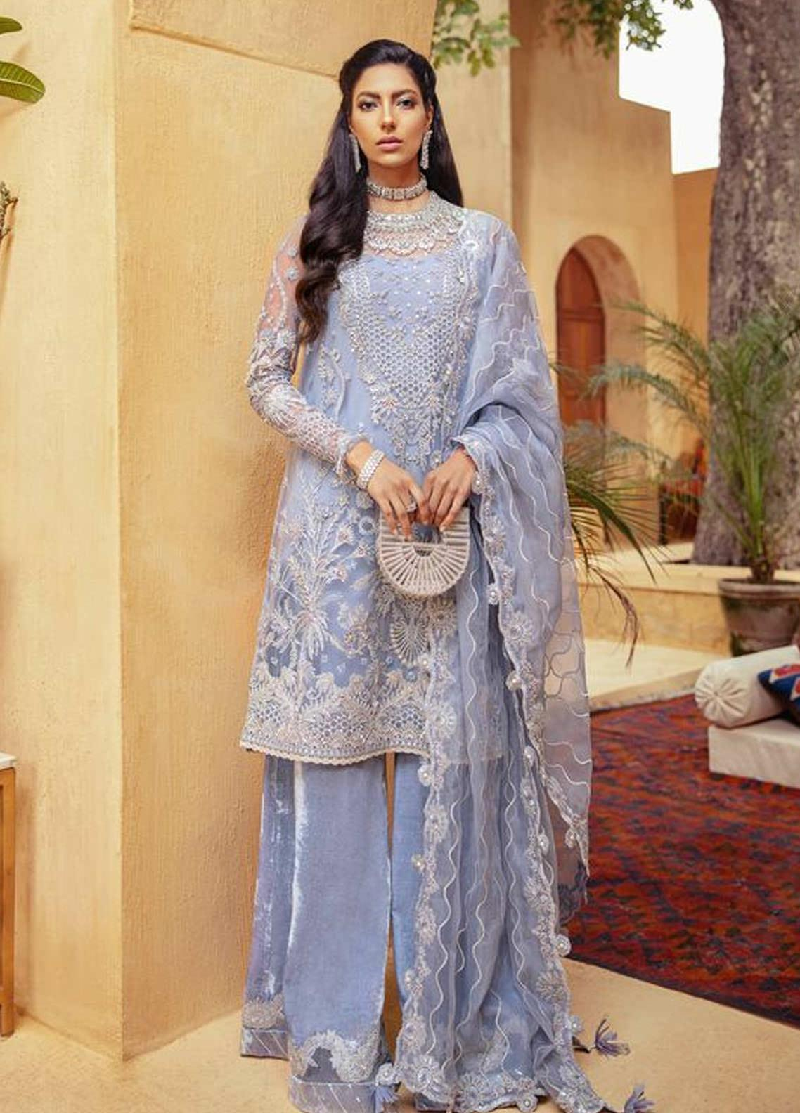 Freeshia by Suffuse Embroidered Net Unstitched 3 Piece Suit FRS20WD Aphrodite - Wedding Collection