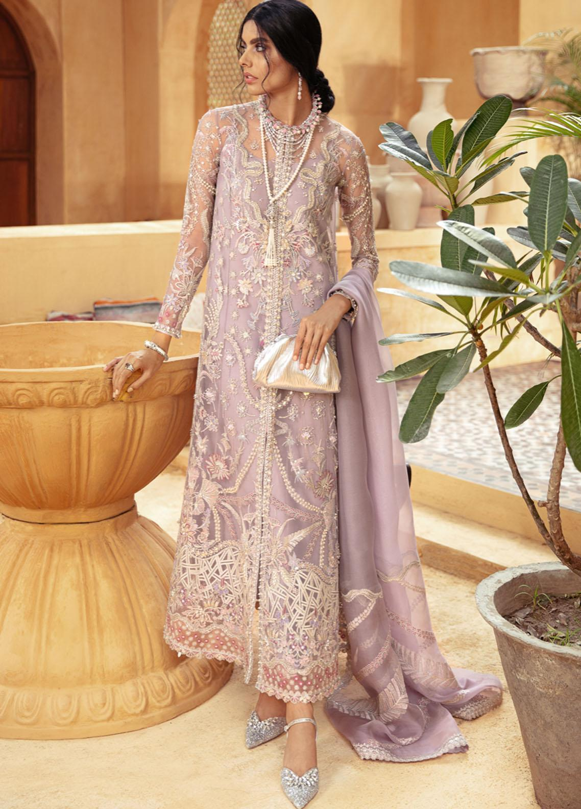 Freeshia by Suffuse Embroidered Organza Unstitched 3 Piece Suit FRS20WD Athena - Wedding Collection
