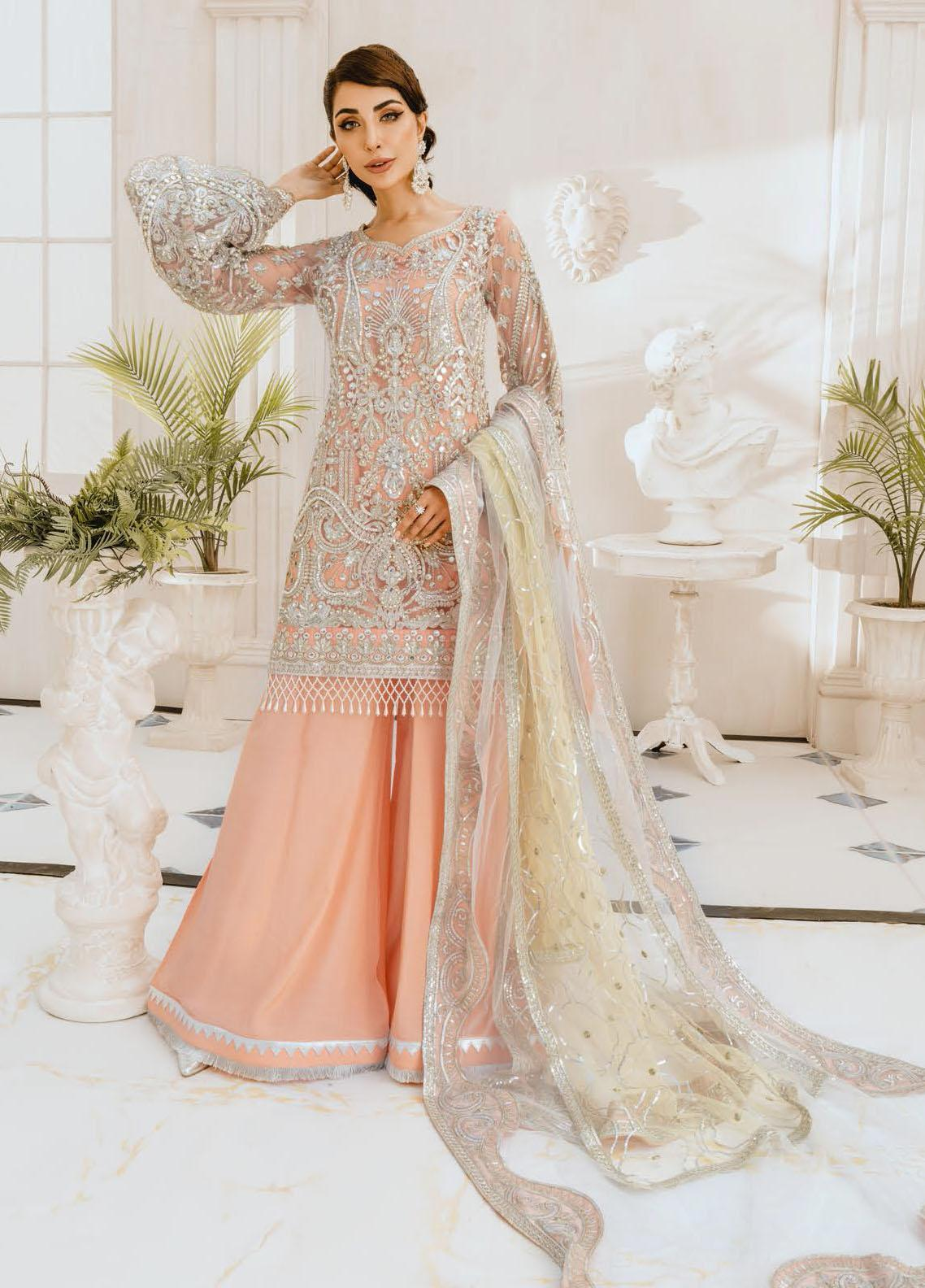 Freesia by Maryum N Maria Embroidered Net Unstitched 3 Piece Suit FMM20PC 07 Daisy Days - Premium Collection