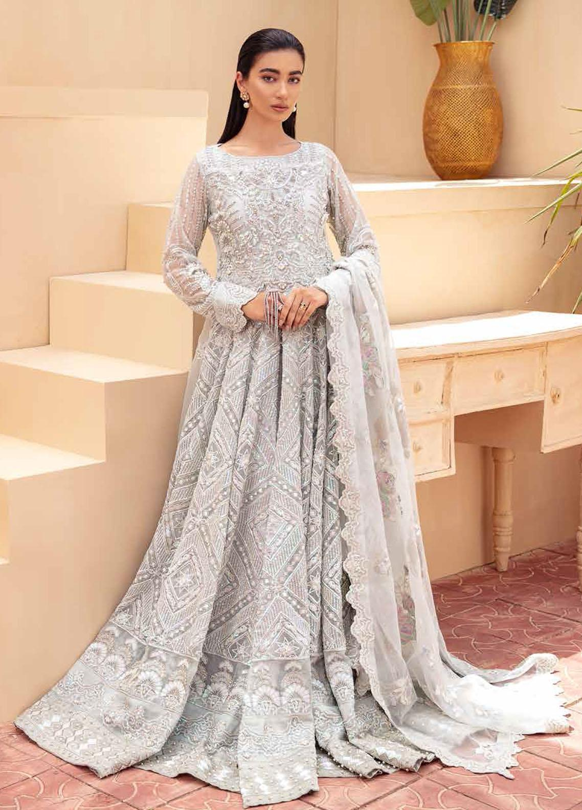 Freesia By Maryum N Maria Embroidered Organza Suits Unstitched 3 Piece MNM21FP 02 Radical Glam - Premium Collection