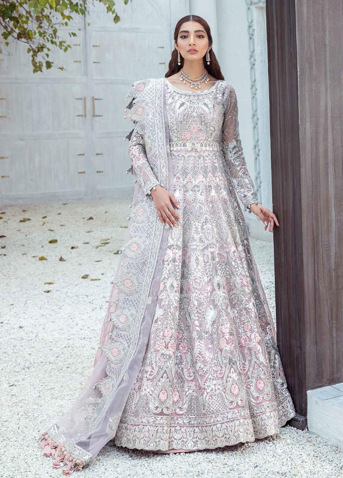 Freesia by Maryum N Maria Embroidered Organza Suits Unstitched 3 Piece MNM21WD 01 Enlightened triumph - Wedding Collection