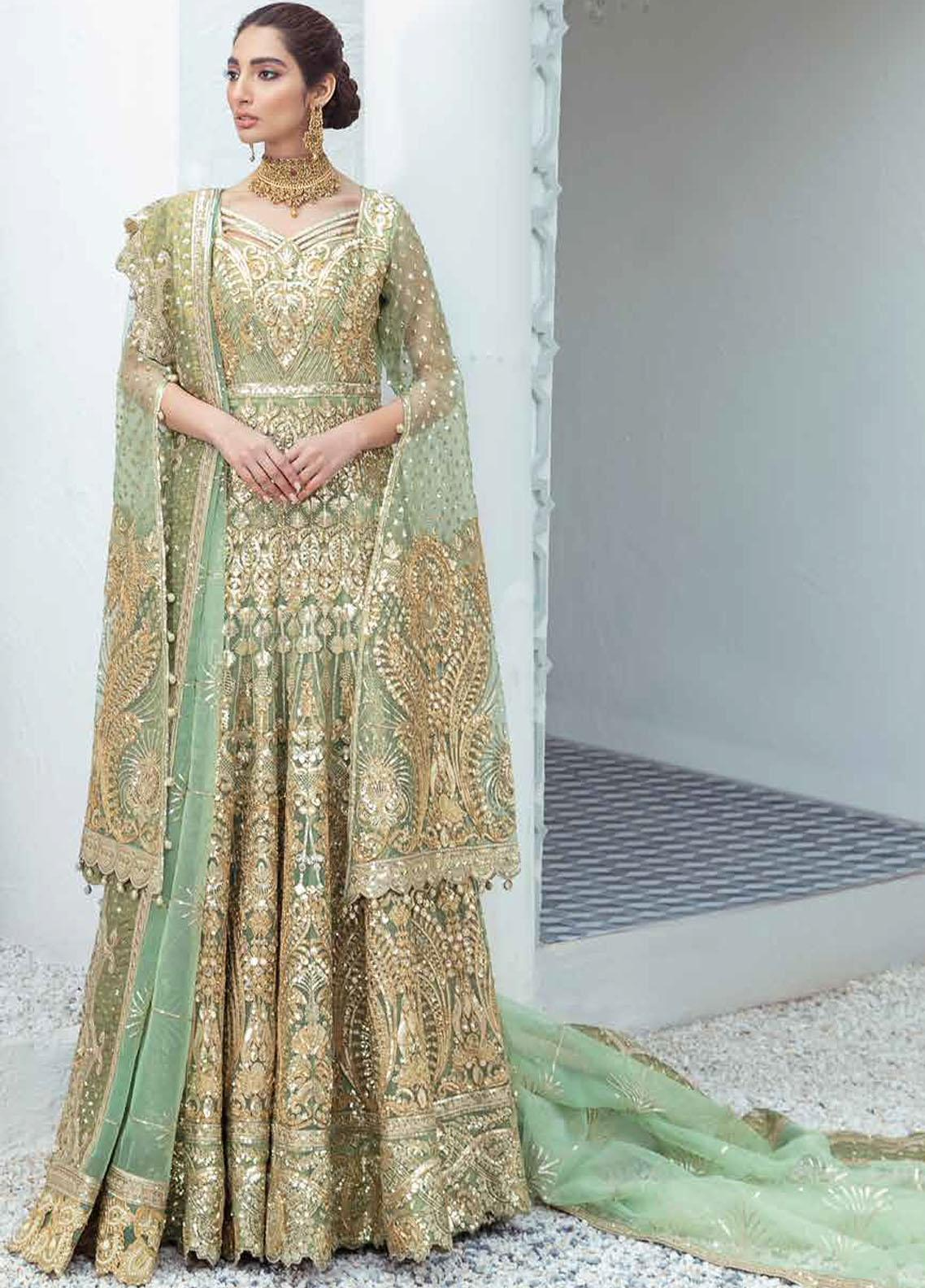 Freesia by Maryum N Maria Embroidered Organza Suits Unstitched 3 Piece MNM21WD 05 High Spirits - Wedding Collection