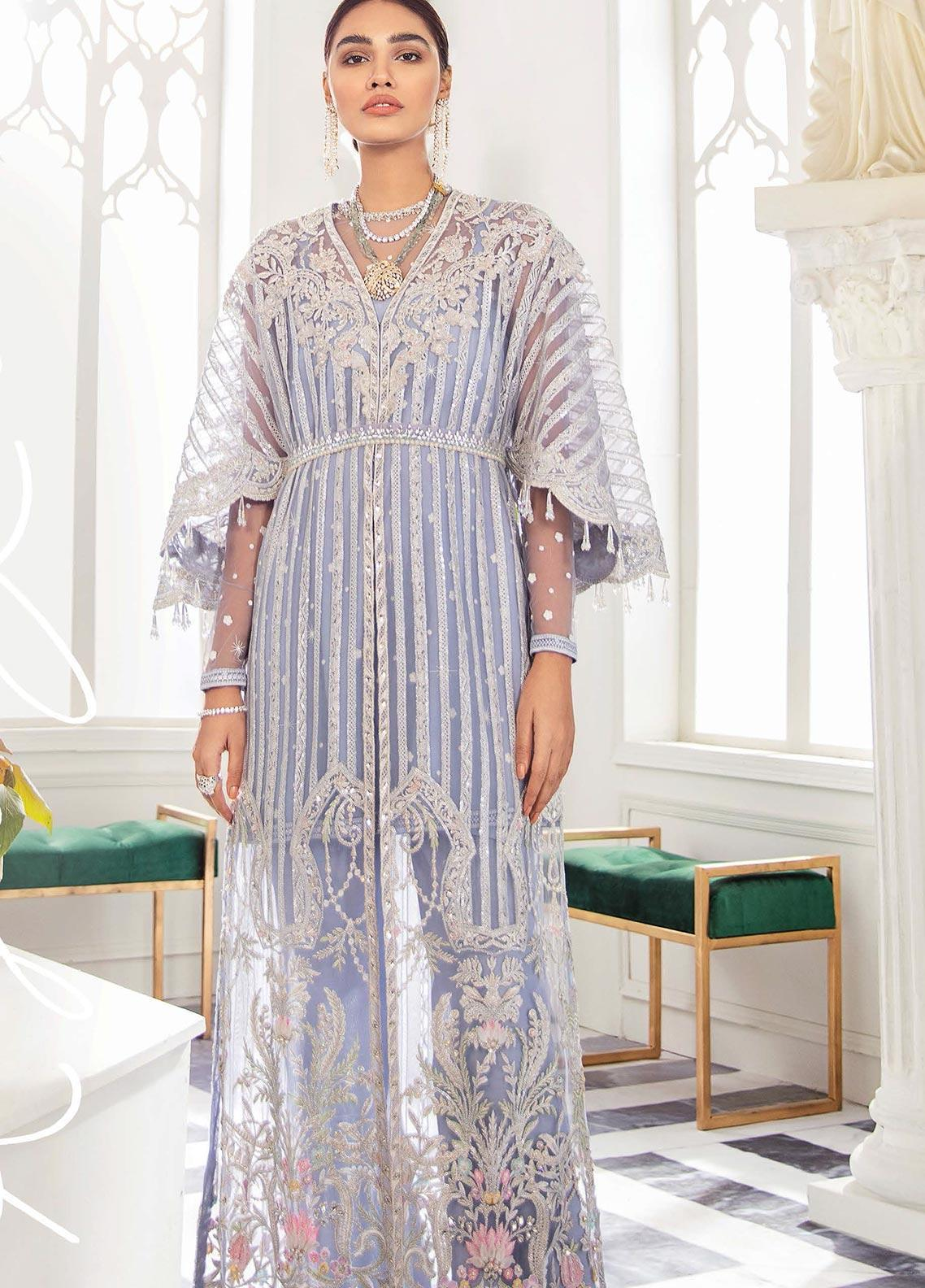 Freesia by Suffuse Embroidered Net Unstitched 3 Piece Suit FRS19W Royal Lilac - Wedding Collection