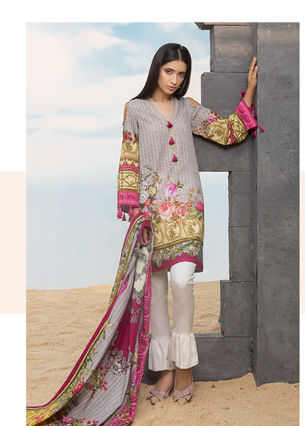Sapphire Embroidered Khaddar Unstitched 3 Piece Suit SP17W French Tale A