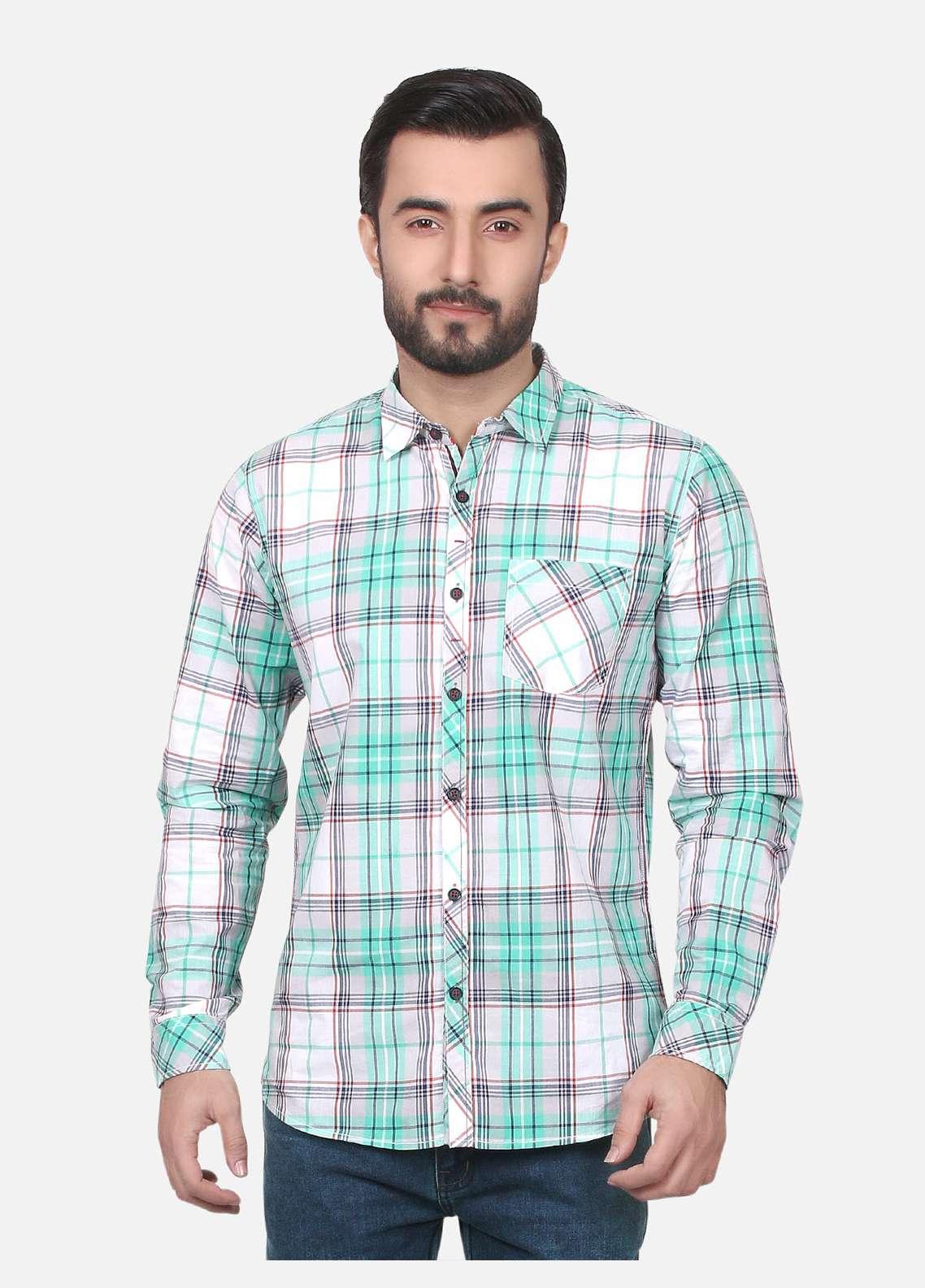 Furor  Casual Shirts for Men - Green FRM18CS 31114