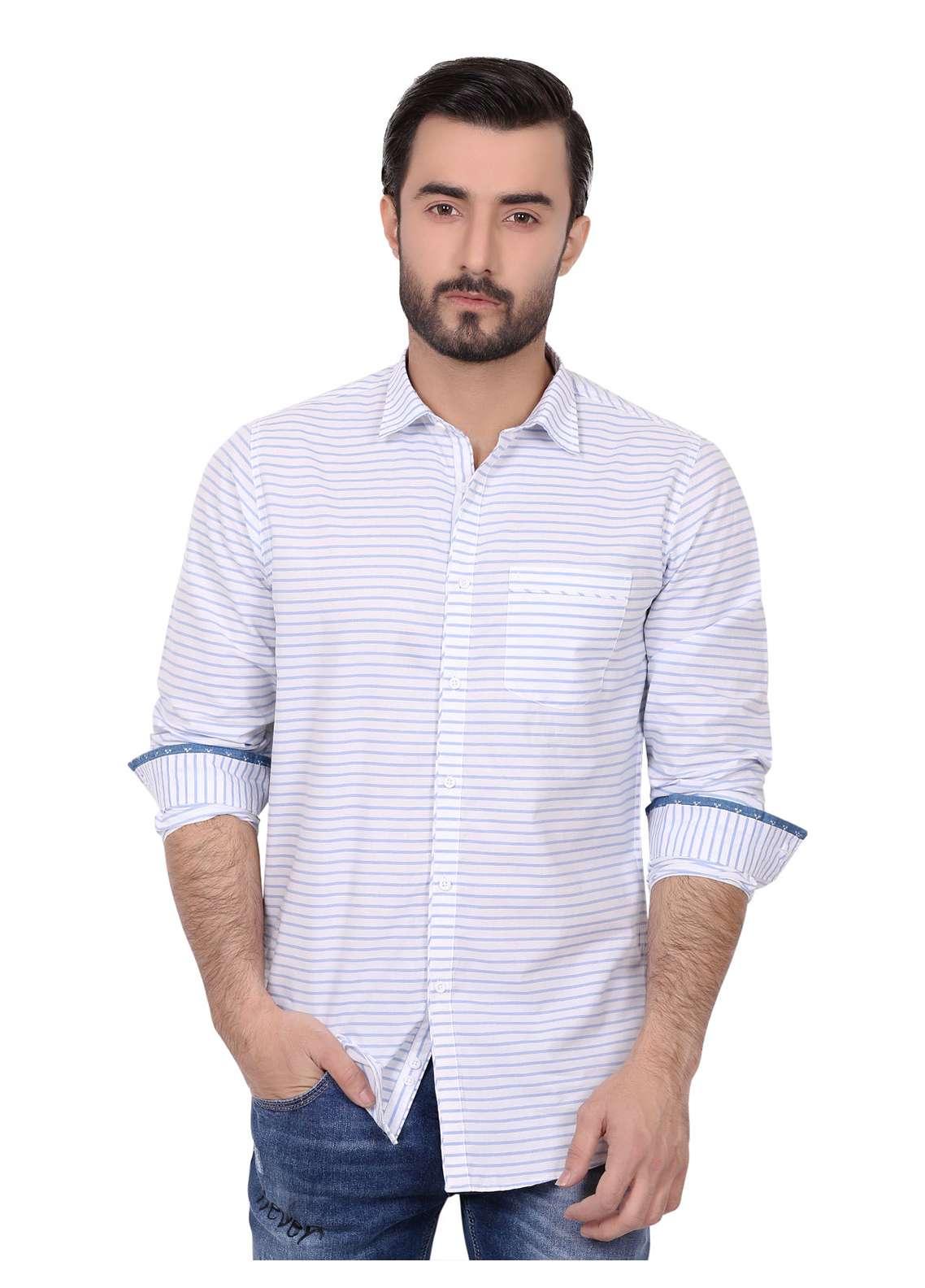 Furor  Casual Men Shirts - Blue FRM18CS 31186