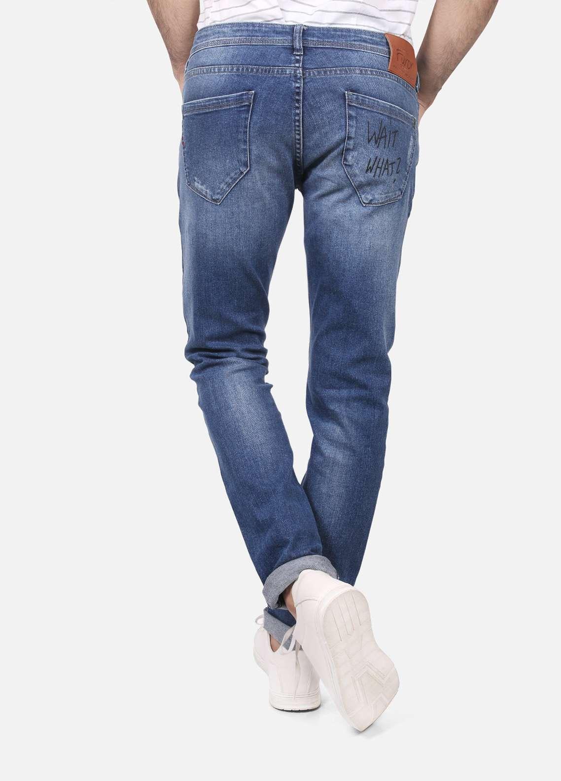 Furor Denim Denim Jeans for Men - Blue FRM18DP 003