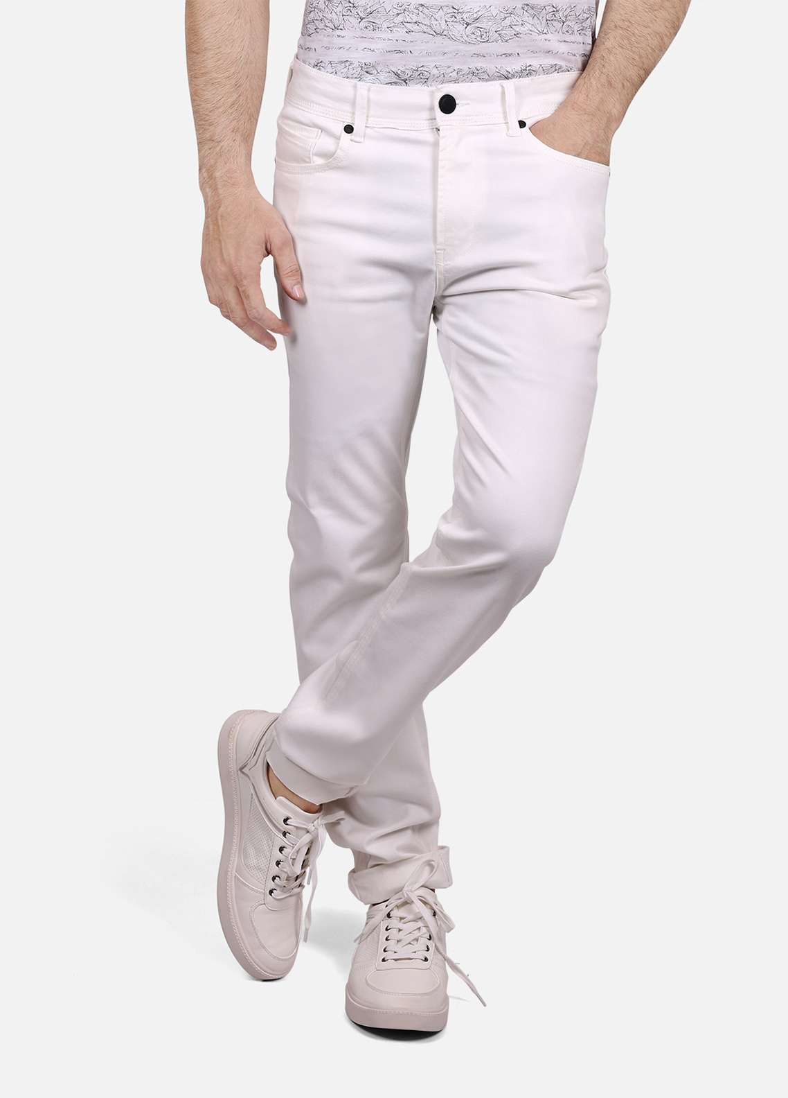 Furor Denim Casual Jeans for Men - Off White FRM18DP 018