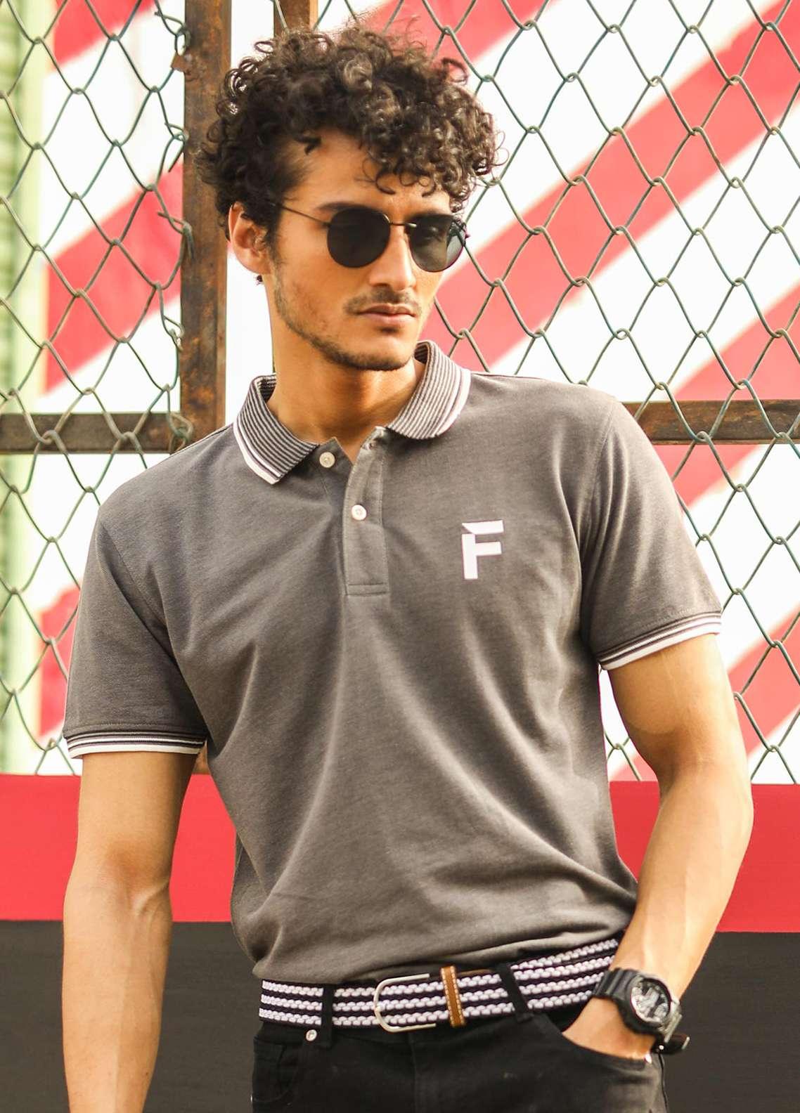Furor Cotton Polo Men T-Shirts - Grey FRM18PS 002