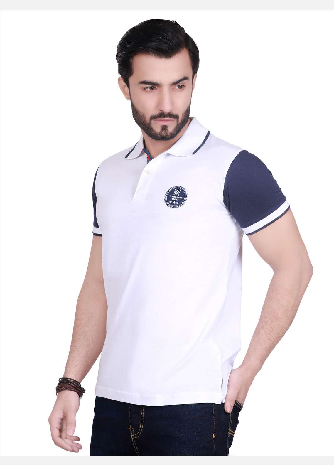 Furor Cotton Polo Men T-Shirts - White FRM18PS 004