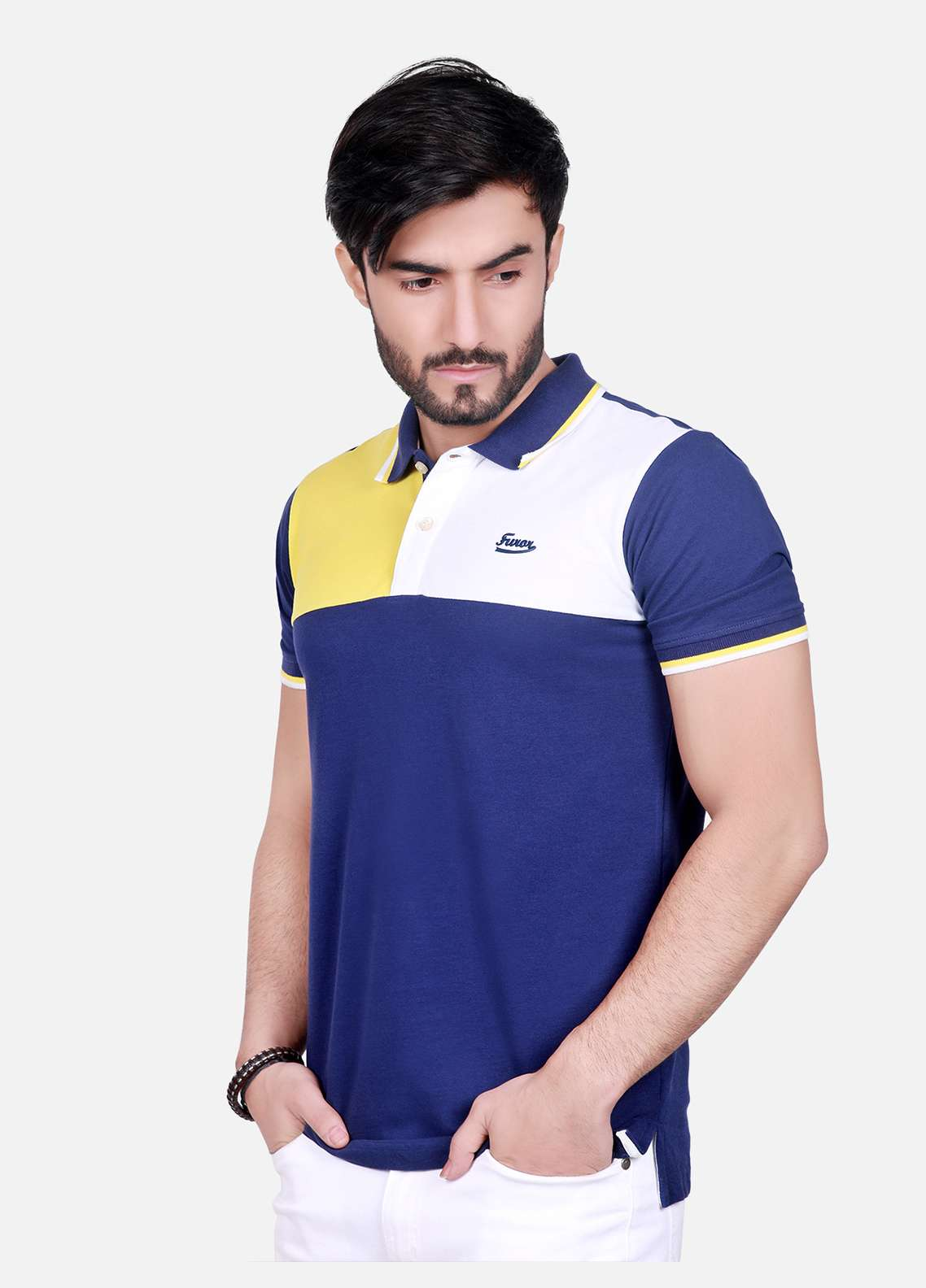 Furor Cotton Polo T-Shirts for Men - Blue FRM18PS 005
