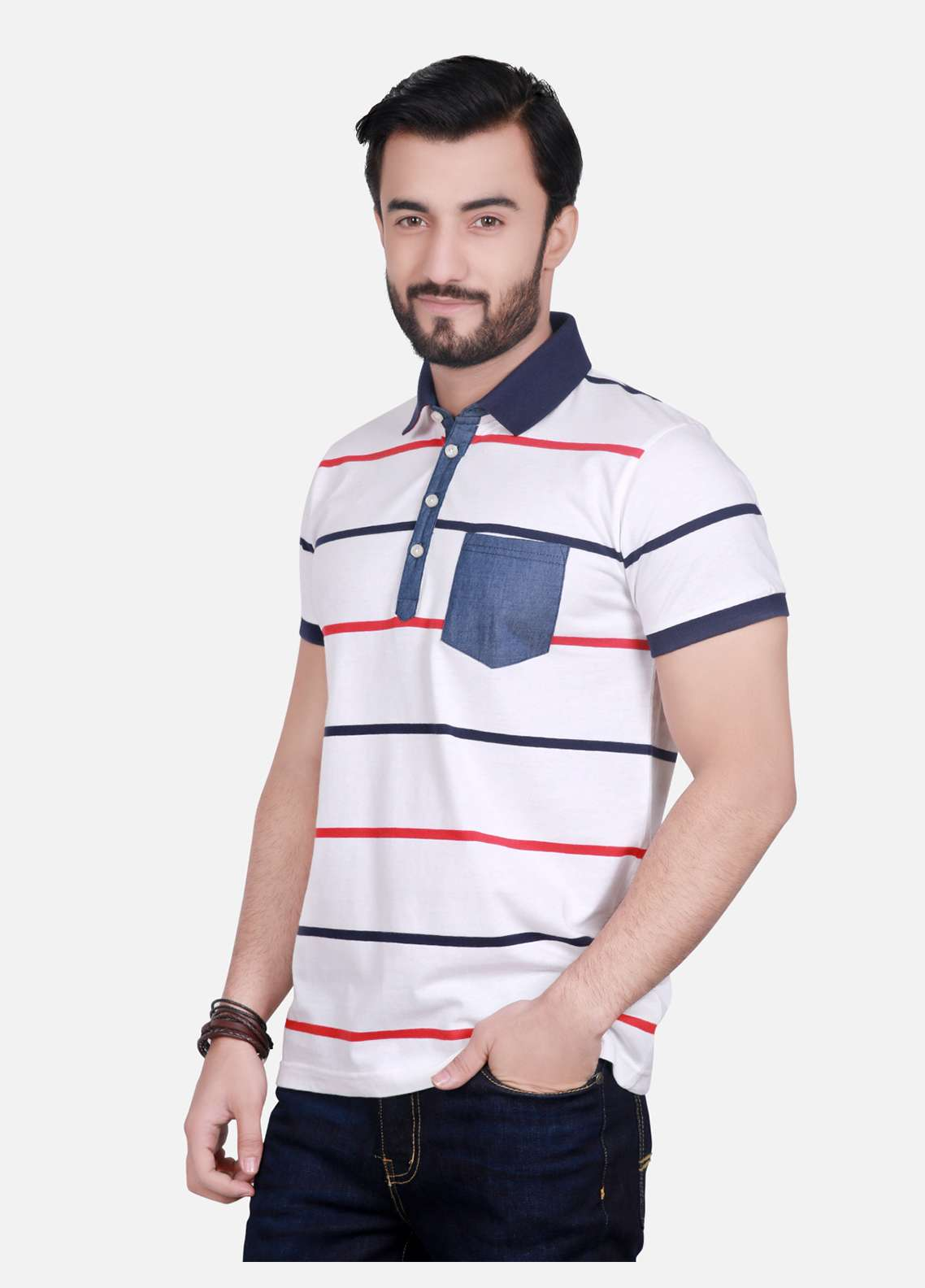 Furor Cotton Polo Men T-Shirts - Off white FRM18PS 010