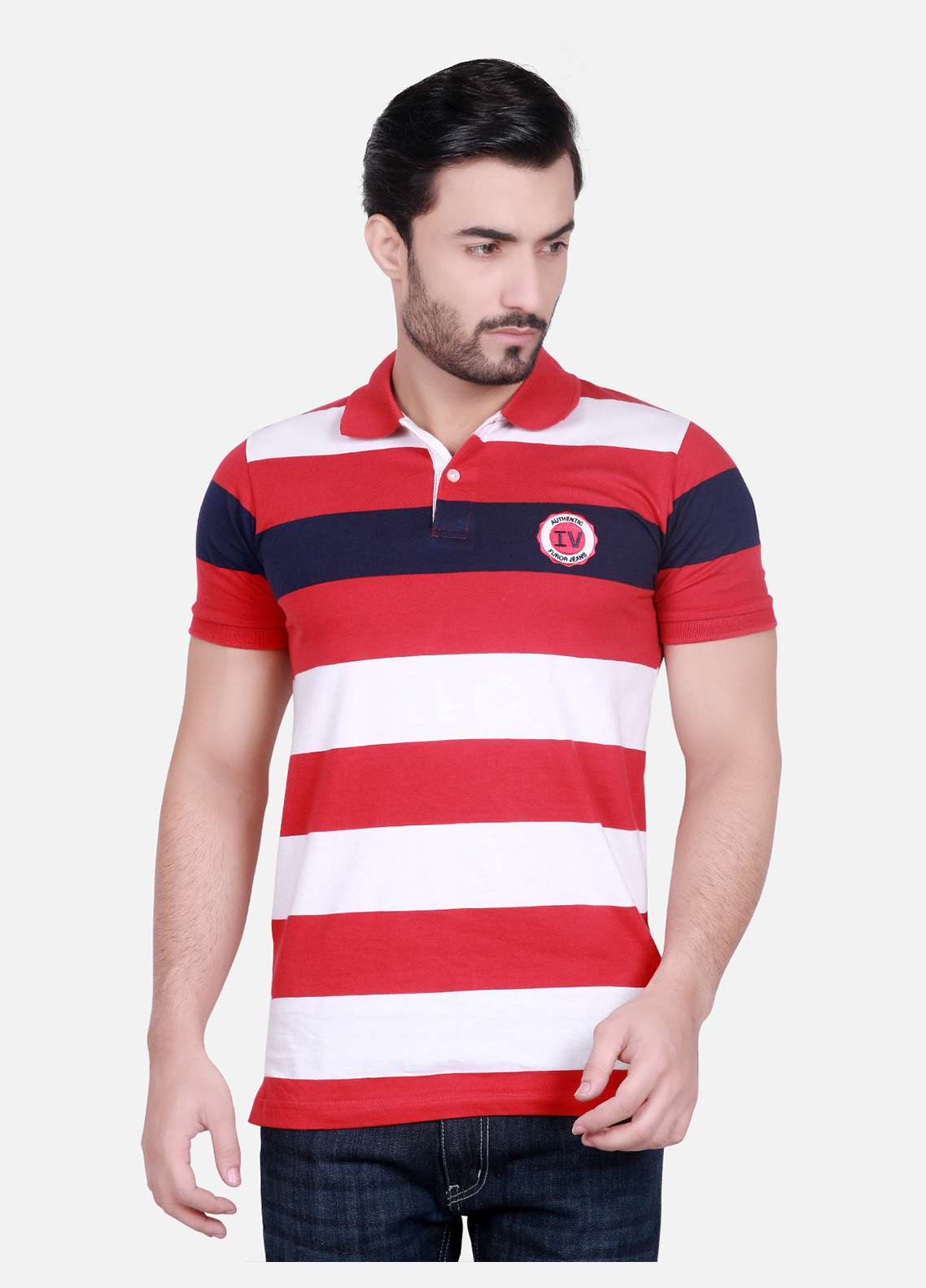 Furor Cotton Polo T-Shirts for Men - Red FRM18PS 011