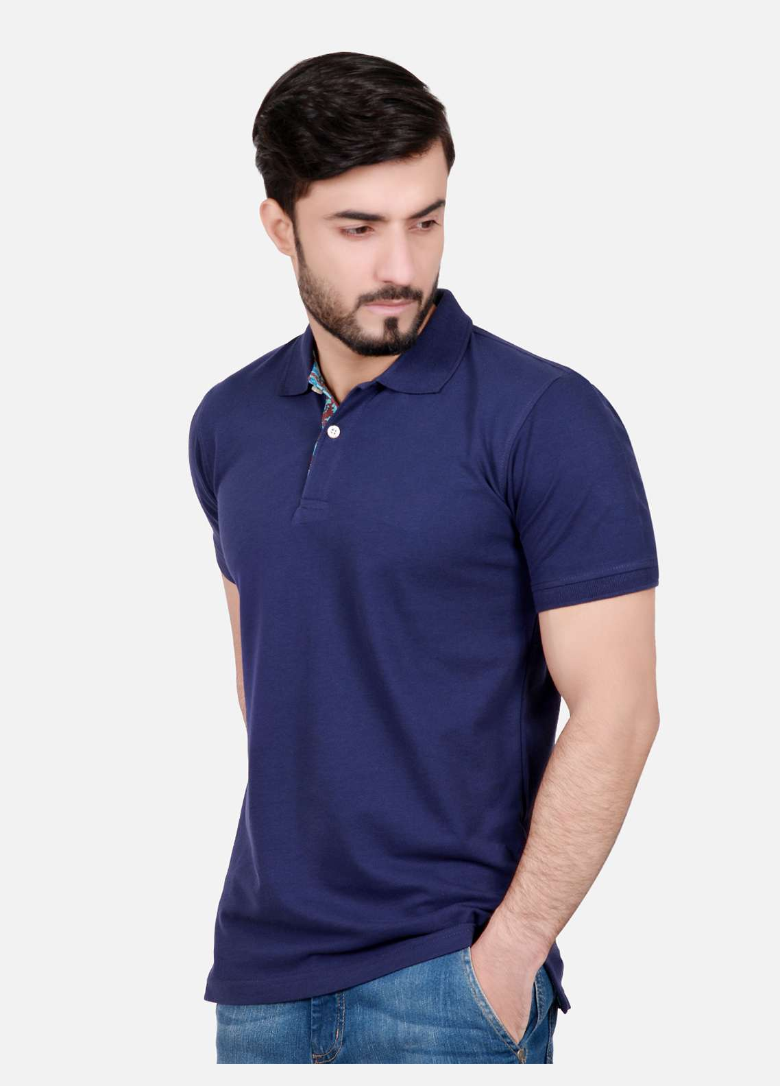 Furor Cotton Polo Men T-Shirts - Navy Blue FRM18PS 016