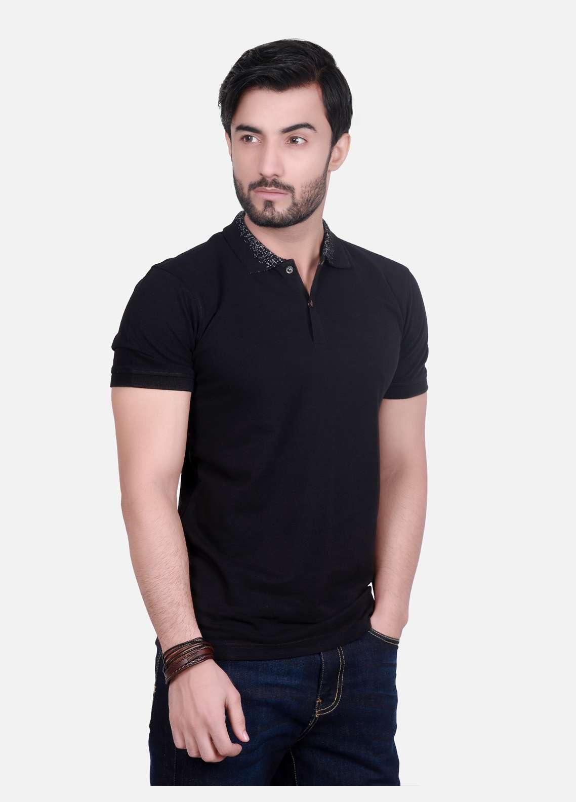 Furor Cotton Polo T-Shirts for Men - Black FRM18PS 018