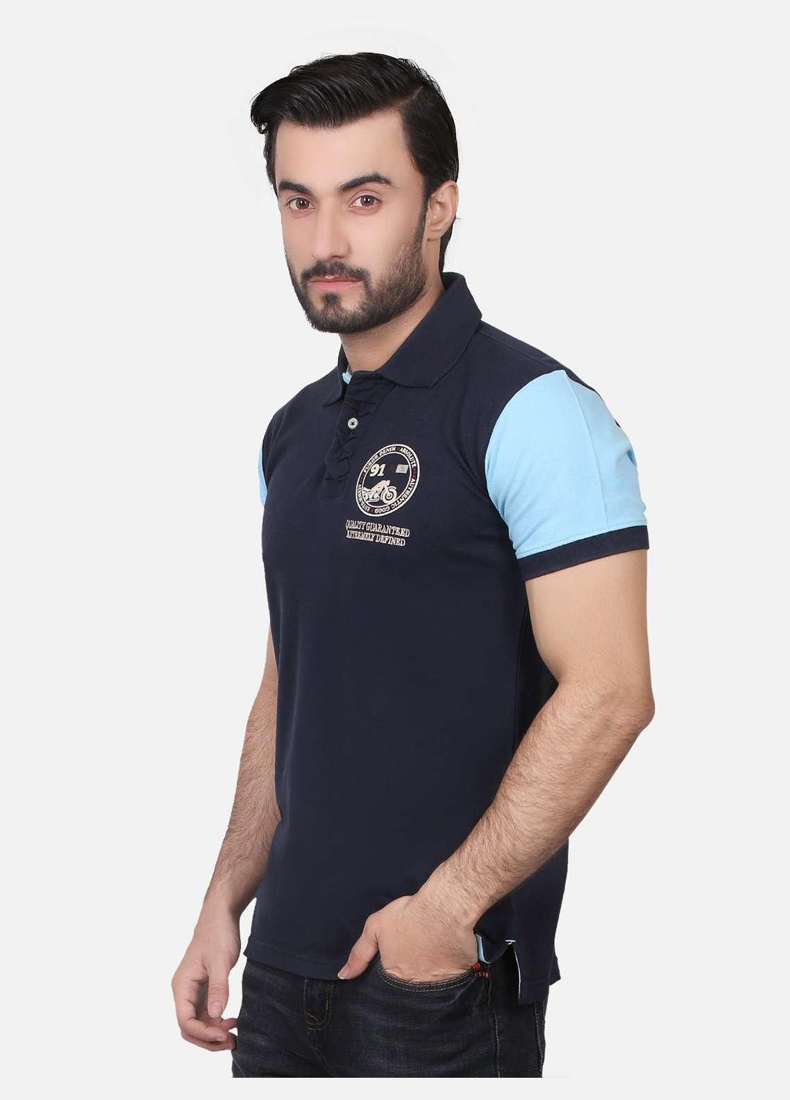 Furor Cotton Polo Men T-Shirts - Navy Blue FRM18PS 021