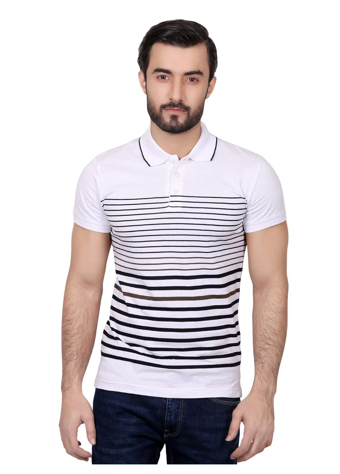Furor Cotton Polo T-Shirts for Men - White FRM18PS 022